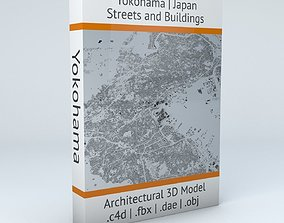 3D Yokohama Streets and Buildings