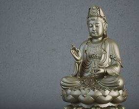 Buddha statue metal 3D model