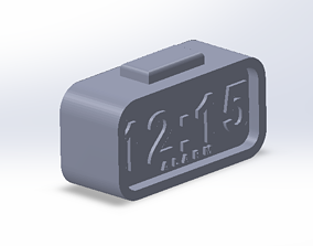 3D print model digital clock