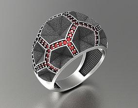 Unisex Hexagonal Ring 3D print model