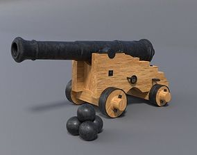 18th century cannon 3D