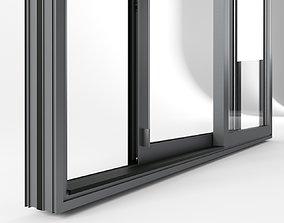Door glass with drain 3D model