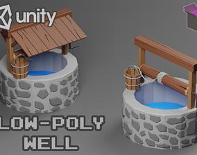 Stylized Well 3D model VR / AR ready