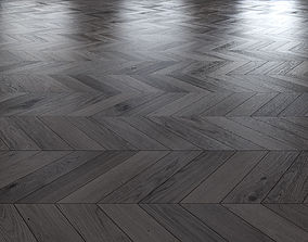 3D model Oak Chevron dark floor