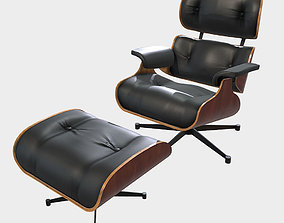 3D asset Low Poly PBR Eames Lounge Chair