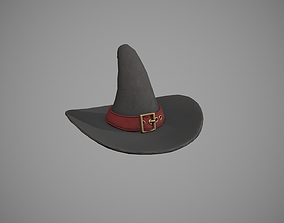 3D asset Witch Hat - Red Strap