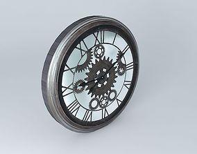 3D model Clock back time