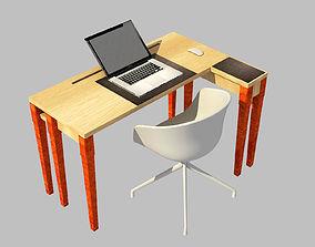3D model Ergonomic desk for notebooks