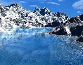 mountains 3D model bg