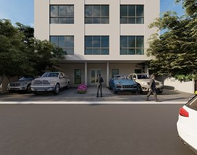 render 3D printable model Apartment Building Concept