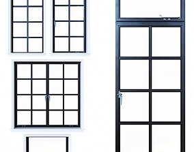 Steel windows 3D model