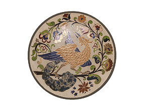 3D model Traditional Plate 4 -Bird