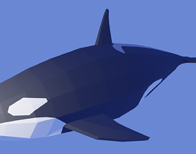 Orcinus Orca or Killer Whale Low Poly 3D asset