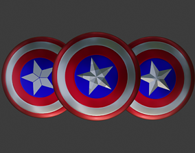 Captain Americas Shield - 3 versions of 3D model