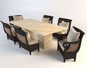 Dining set - Denpasar coll 3D model