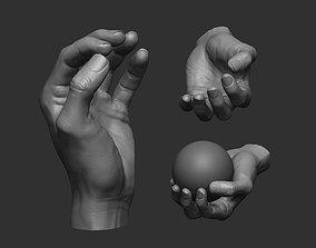 Hand pose 6 3D print model