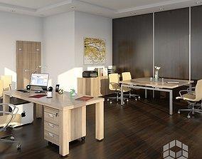 3D model Office 4 indoors