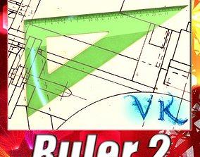 3D model Angle Bevel Ruler 02