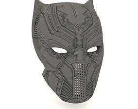 war Black panther helmet 3D print model