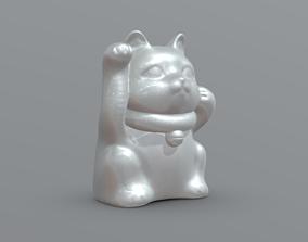 Maneki-Neko Cat Ready For 3d Printing