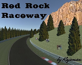 3D model Race Track 02 Red Rock Raceway