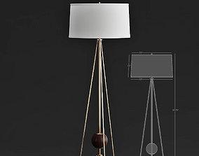3D model Jonathan Adler OJAI Floor LAMP