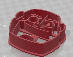 3D print model Cyborg from Teen Titans Go Cookie Cutter 1
