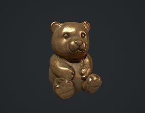 3D asset Bronze Teddy Bear Statue