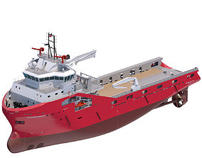 75 m AHTS Supply Vessel Skandi Saigon 3D