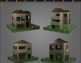 3D model House Structures - Low Poly