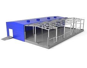 3D Industrial Metal Hangar