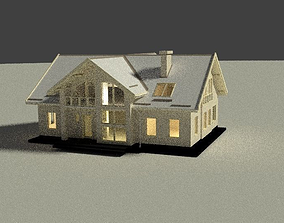 3D model Simple house