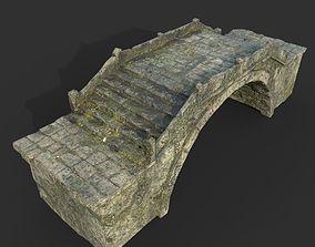 Low poly Ruin Mossy Temple Bridge 07 190318 3D model