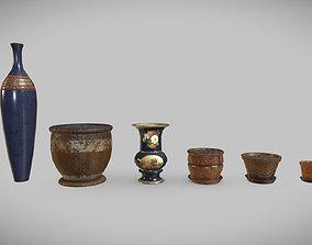 Flower Pots 3D model realtime
