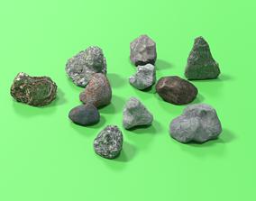 3D model realtime LOW-POLY ROCK
