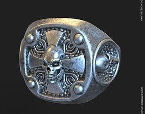 Biker skull vol14 ring 3D printable model