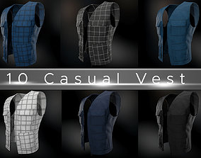 3D model 10 Casual Vest Styles