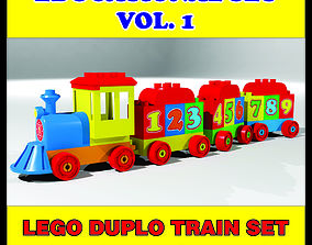animated LEGO DUPLO TRAIN HIGH QUALITY 3D