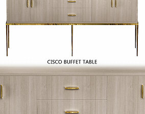 realtime Cisco Buffet Table low poly 3d model