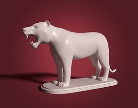 Tiger Figurine - Statue 3D asset