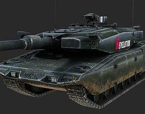 German MBT Revolution Leopard 2 Main Battle Tank 3D asset