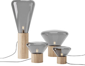 Muffins Oak Lamp by Brokis 3D model