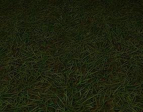 3D model ground grass tile 13