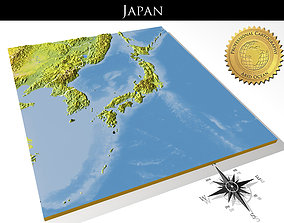 Japan High resolution 3D relief maps