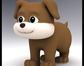 Cartoon Dog 3D model realtime