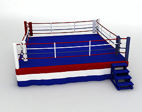 Sports Ring Boxing Wrestling Fighting 3D model