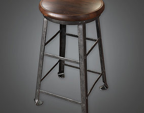 Work Stool TLS - PBR Game Ready 3D asset