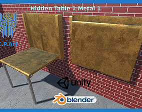 3D model animated Hidden Table 1 Metal 1