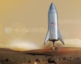 Starship Elon Musk model - Spaceship game-ready