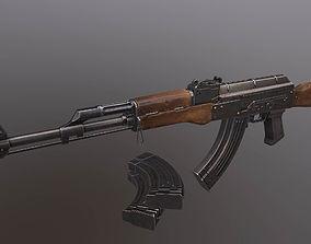 AK rifle 3D model